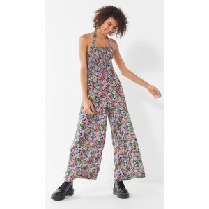 Urban Outfitters Lola Smocked Printed Jumpsuit, Size XS